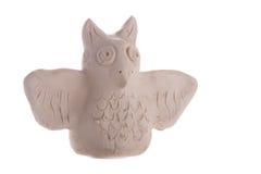 Handmade сыч глины Стоковое Фото