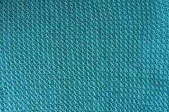 Handmade ткань knit сизоватого зеленого цвета сверху стоковая фотография rf