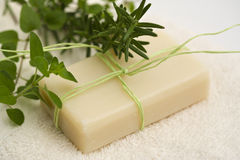 handmade травяное мыло Стоковые Изображения RF