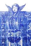 Handmade традиционная голубая португальская плитка (azulejos), Лиссабон, Eur Стоковые Фото