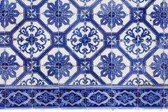 Handmade традиционная португальская плитка (azulejos), Лиссабон, Европа Стоковое Изображение