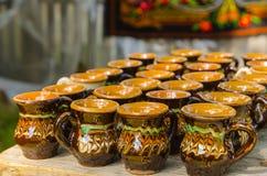 Handmade традиционные чашки стоковое изображение rf