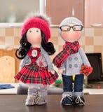 Handmade тряпичные куклы с естественными волосами Стоковое Фото