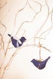 Handmade украшения птицы Стоковая Фотография