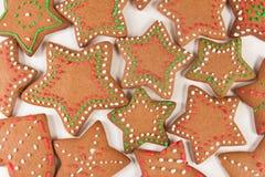 Handmade украшенные печенья имбиря стоковая фотография