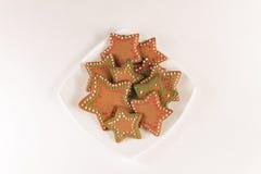Handmade украшенные печенья имбиря стоковые фото