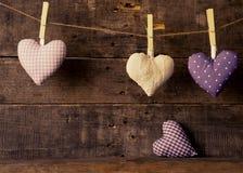 Handmade формы сердца ткани Стоковое Фото