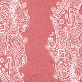 Handmade Abstract pattern background in Zen-doodle style on grunge pink Royalty Free Stock Photos
