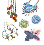 Handmade accessories in hippie style Royalty Free Stock Images
