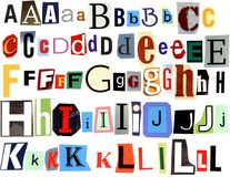 Handmade alphabet A to L Royalty Free Stock Photos