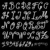 Handmade alphabet Royalty Free Stock Photography