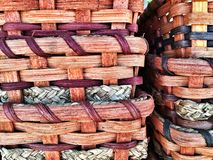 Handmade Amish Baskets for sale stock photos
