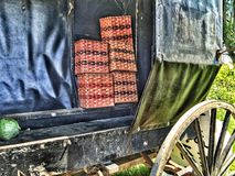 Handmade Amish Baskets for sale royalty free stock photo