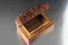 Handmade Ancient Vintage Wood Box Royalty Free Stock Photo