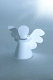 Handmade angel cut out from  paper Royalty Free Stock Photo
