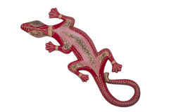 Handmade antique african wooden lizard Royalty Free Stock Image