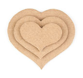 Handmade applique made of cardboard heart Royalty Free Stock Images