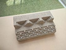 Student model clay made ancient architectural model stairs stock photos