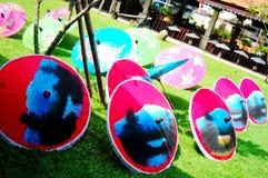 Handmade Art Umbrella for show and sale traveler at Bo-sang Hand Stock Image
