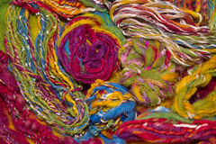 Handmade art yarns Royalty Free Stock Photography