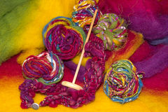 Handmade art yarns Royalty Free Stock Photo