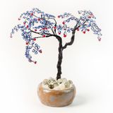 Handmade article: money tree from glass beads and wire. Lilac fr. Om glass beads and wire Royalty Free Stock Photography