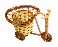 Handmade artificial flower basket Stock Image