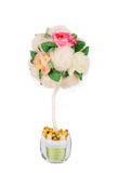 Handmade artificial flower. Royalty Free Stock Images