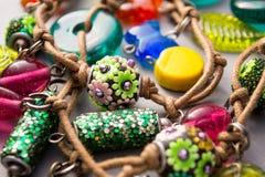 Handmade Artisan Jewellery with Playful Charms Stock Image