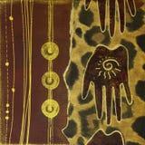 Handmade artwork africa Royalty Free Stock Images