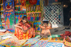 Handmade artworks, handicrafts being sold at Pingla, West Bengal, India Stock Images
