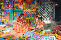 Handmade artworks, handicrafts being sold at Pingla, West Bengal, India Royalty Free Stock Photo