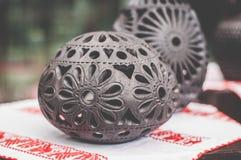 Handmade artykuł czarna glina Zdjęcia Royalty Free
