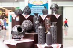 Handmade artykuły czarna glina Zdjęcie Royalty Free