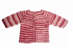 Handmade baby cardigan Stock Photo