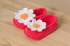 Handmade baby socks Stock Photography