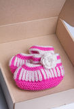 Handmade baby socks Royalty Free Stock Photography