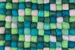 Handmade background of felt in green for creative items. Stock Photography