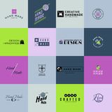 Handmade badges logos and labels for any use Royalty Free Stock Photo