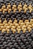 Handmade bag, grey and yellow threads. Handmade bag, tryndy bag vector illustration