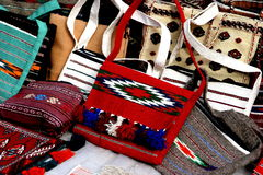 Handmade bags2. Handmade bags. Turkmenistan. Ashkhabad market Royalty Free Stock Images