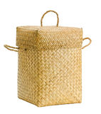 Handmade bamboo basket isolated  Royalty Free Stock Photos