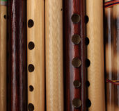 Handmade Bamboo Flutes Royalty Free Stock Image