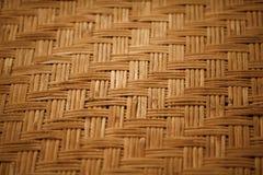 Handmade bamboo mat background Stock Image