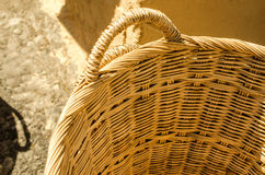 Handmade basket made from bamboo Stock Photo