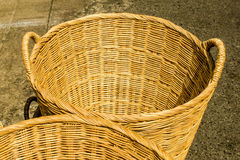 Handmade basket made from bamboo Stock Image