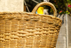 Handmade basket made from bamboo Royalty Free Stock Photos