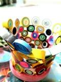 Handmade basket - quilling Stock Photo