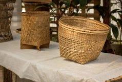 Handmade basket Stock Photo