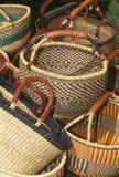 Handmade baskets 1. Multiple handmade baskets of various design Stock Image